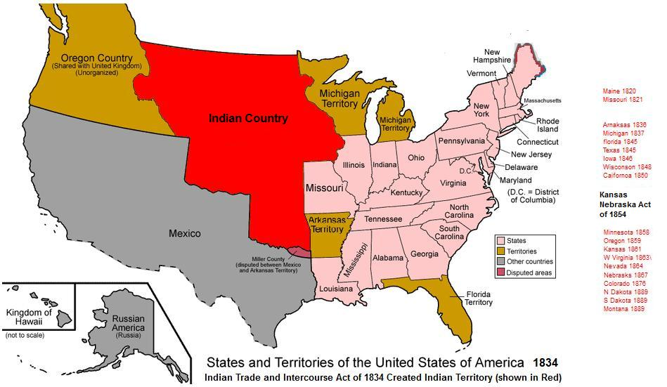 Indian Country 1834