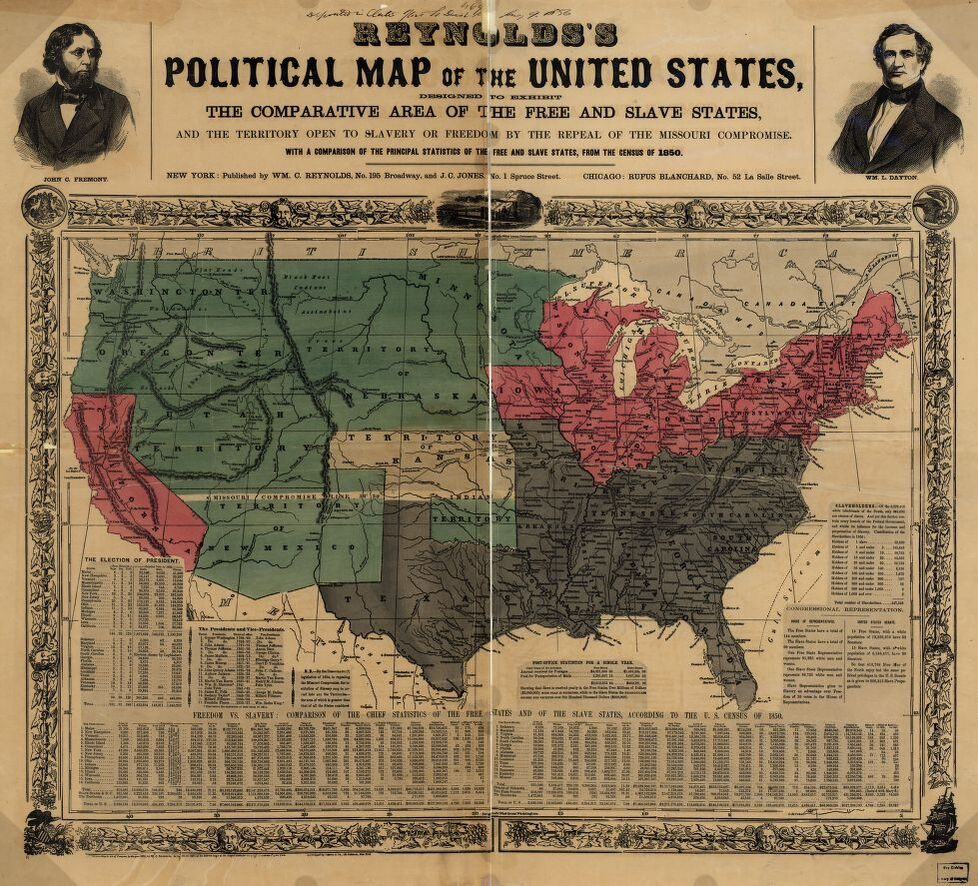 Reynolds Political Map of the United States