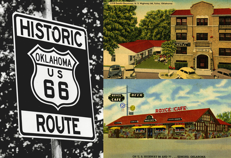 US-Route-66 Postcards
