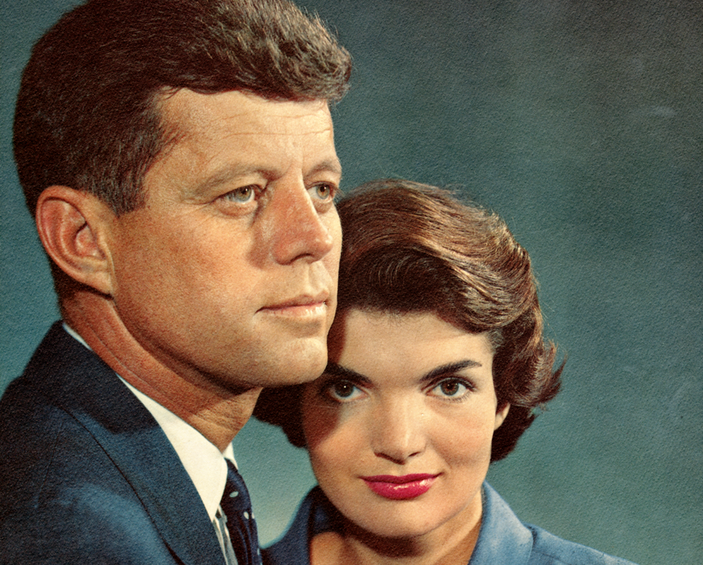 Studio portrait of John F. Kennedy and Jacqueline Kennedy