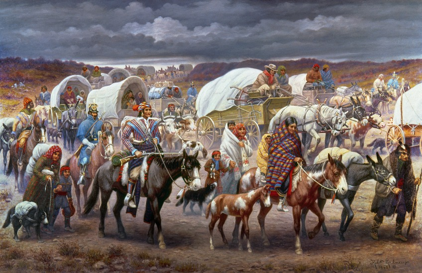 Trail of Tears, painting by Robert Lindneux, 1942