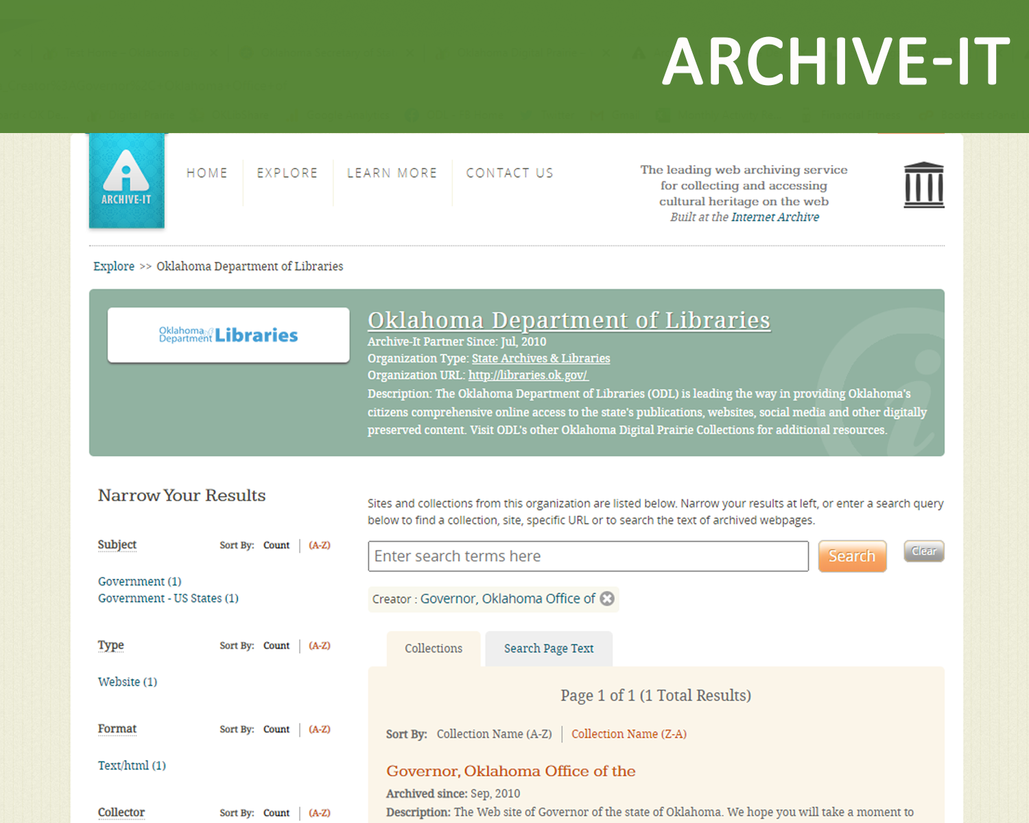 Internet Archive of State Government websites