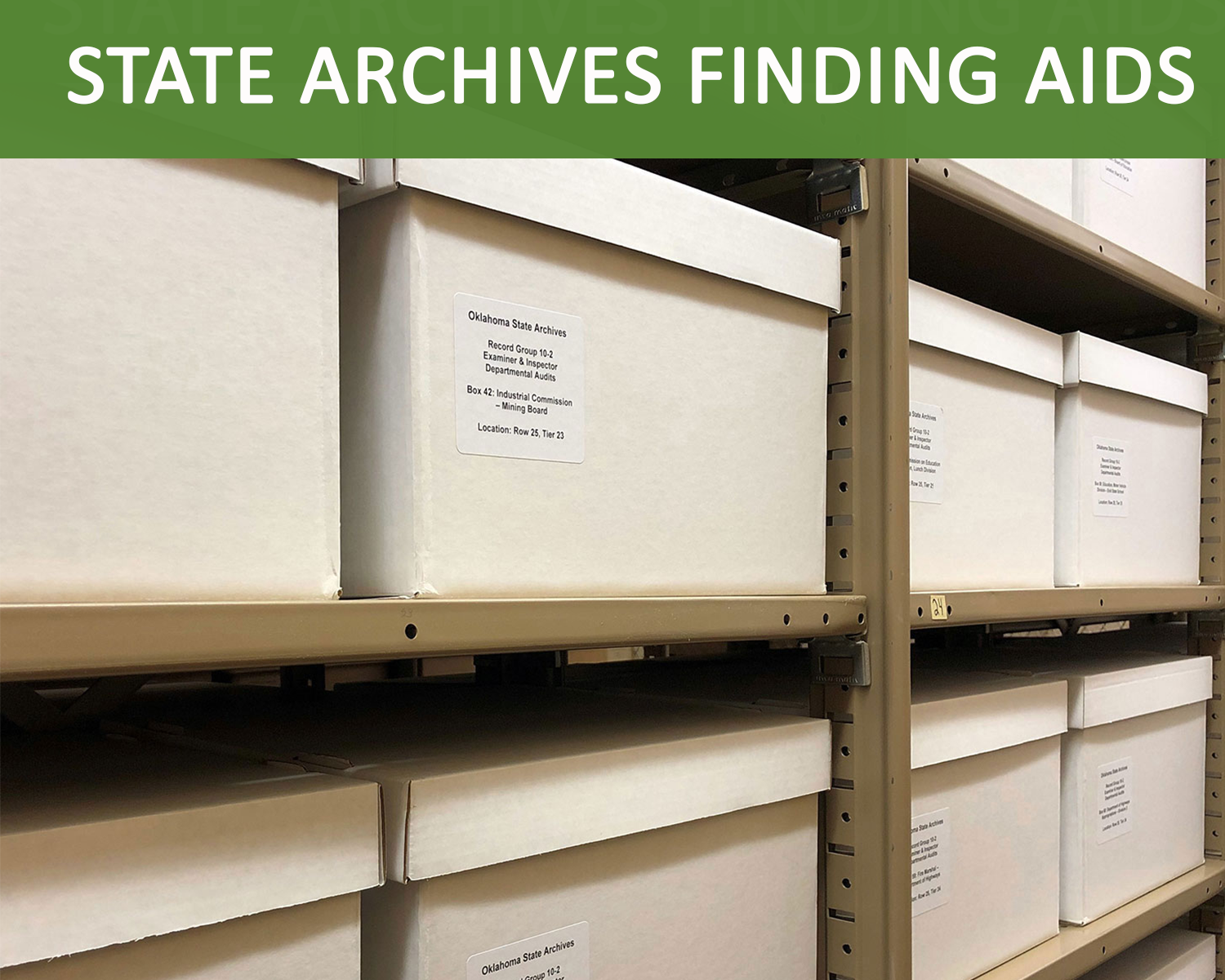 Finding aids for state archives