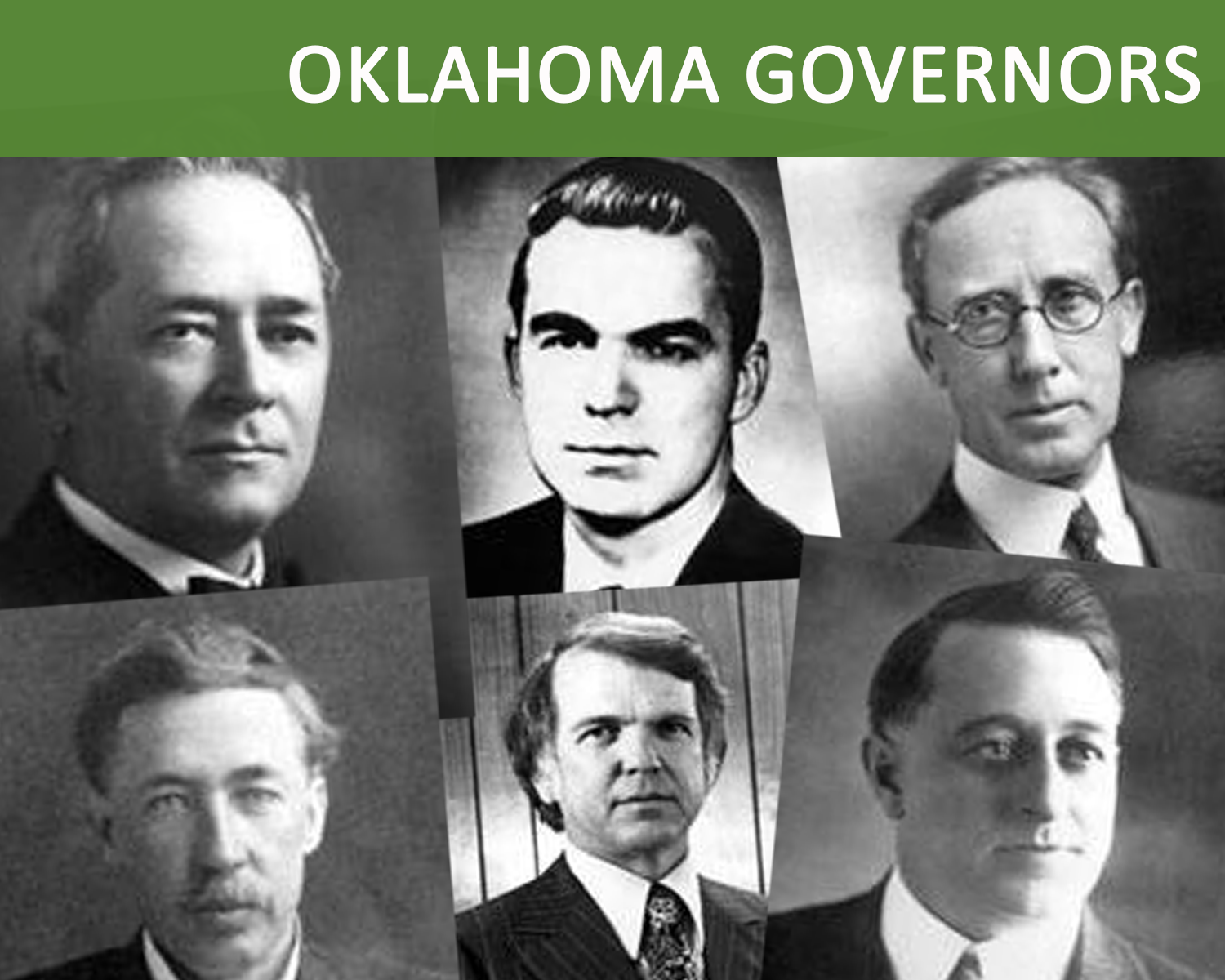 Collection of Oklahoma Governors