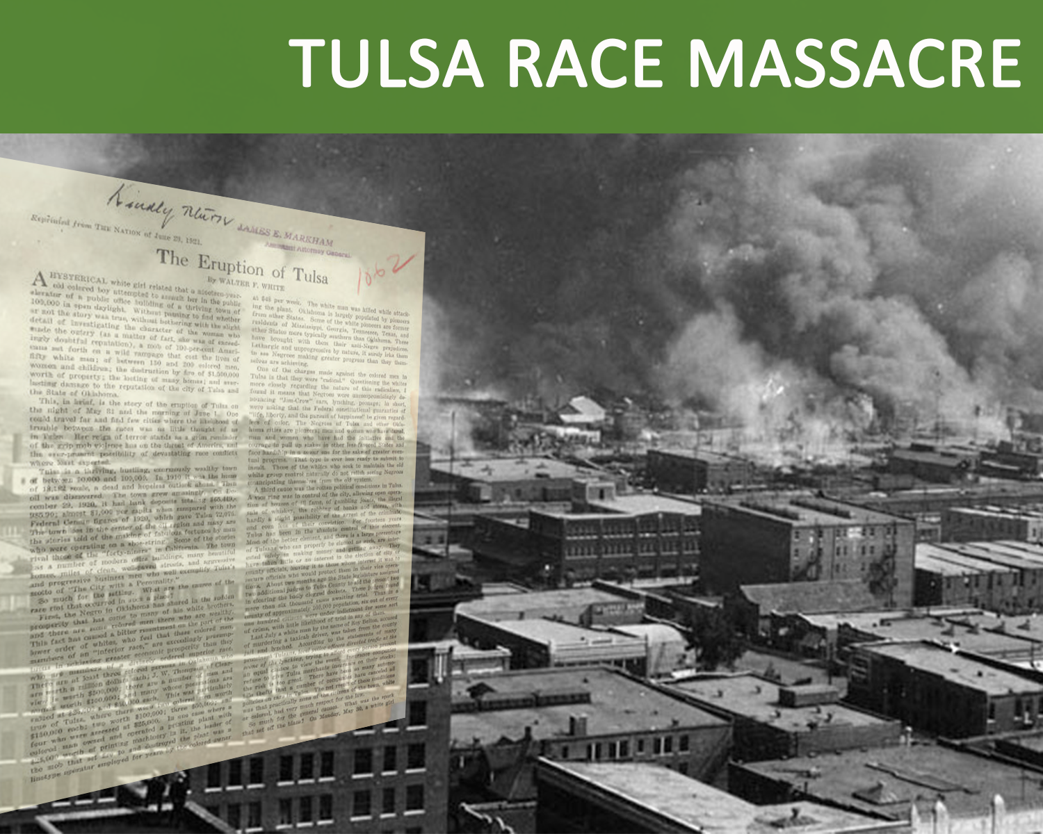 View the collection of documents from the Tulsa Race Massacre of 1921