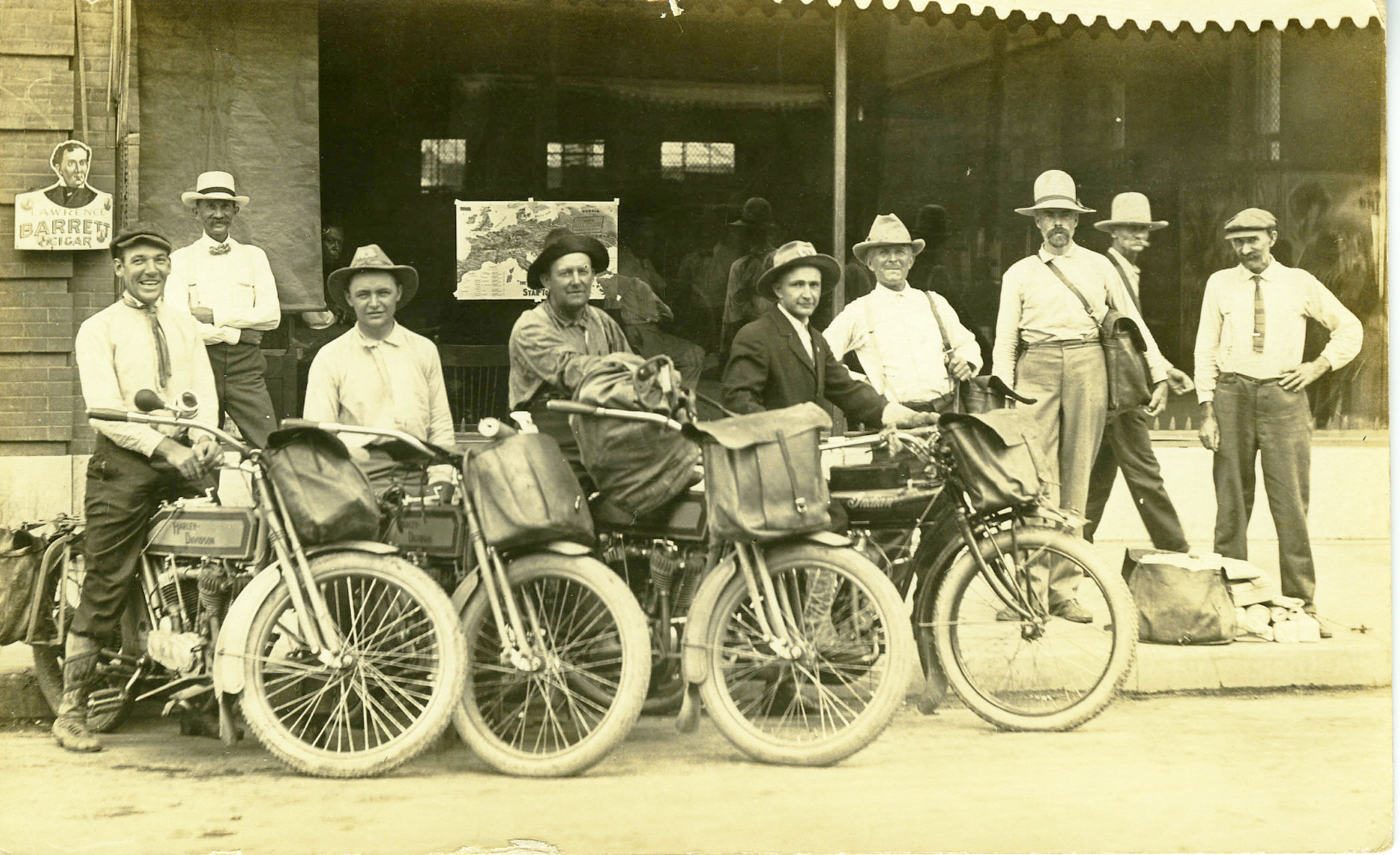 Mail Carriers on Motorcylces